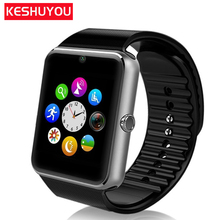 KESHUYOU pedometer Smart watch gt08 fashion bluetooth Smartwatchclock with SIM Camera tracker for ios Android xiaomi