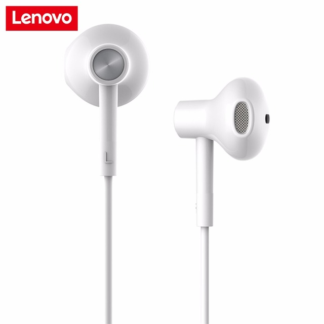 95cea3e8c78 Newest Original Lenovo DP-20 HiFi Dual Driver Earphone In Ear Earbuds With  Mic For Mobile Phone Android Xiaomi Samsung Lenovo