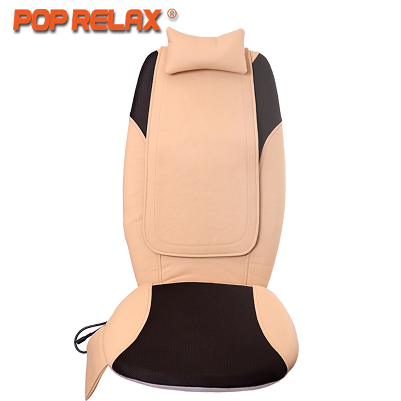 POP RELAX DC12V Car Home Use Massage Cushion Electric Heating Shiatsu Mobile Rolling Vibrating Back Massager Massage Seat Pillow pop relax electric vibrator jade massager light heating therapy natural jade stone body relax handheld massage device massager