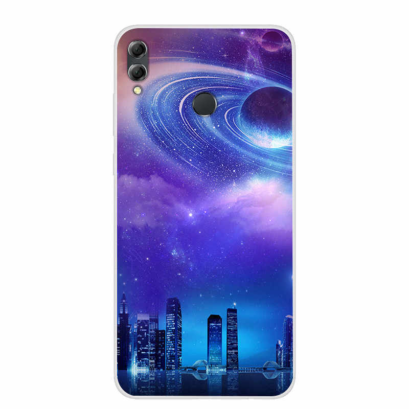 Silicone Case For Huawei Honor 8X Soft Print Back Cover For Huawei Honor 8X  Max Clear bumper Phone Case for honor 8X X8 MAX 8C