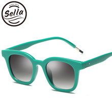 bd7f13ede4 Sella Korean Style Fashion Women Men Classic Retro Square Sunglasses Brand  Designer Trending Ladies Colorful Frame Sun Glasses