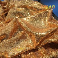 Wholesale Cheap 50 Yards Glitter Gold Sequin Fabric High Quality 3mm Sequin Fabric For Sequin Backdrop