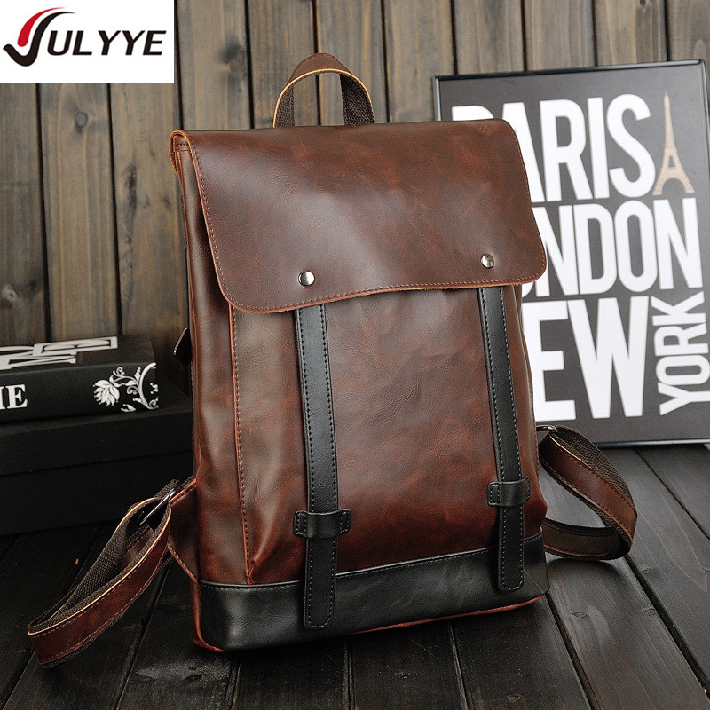 YULYYE New Men Business Backpacks Hot High Quality Bag Fashion Multifunction School Backpack Men Laptop Business Leather Bags hot 2017 new brand laptop business genuine leather backpack men backpacks travel bag school bags men s backpack high quality
