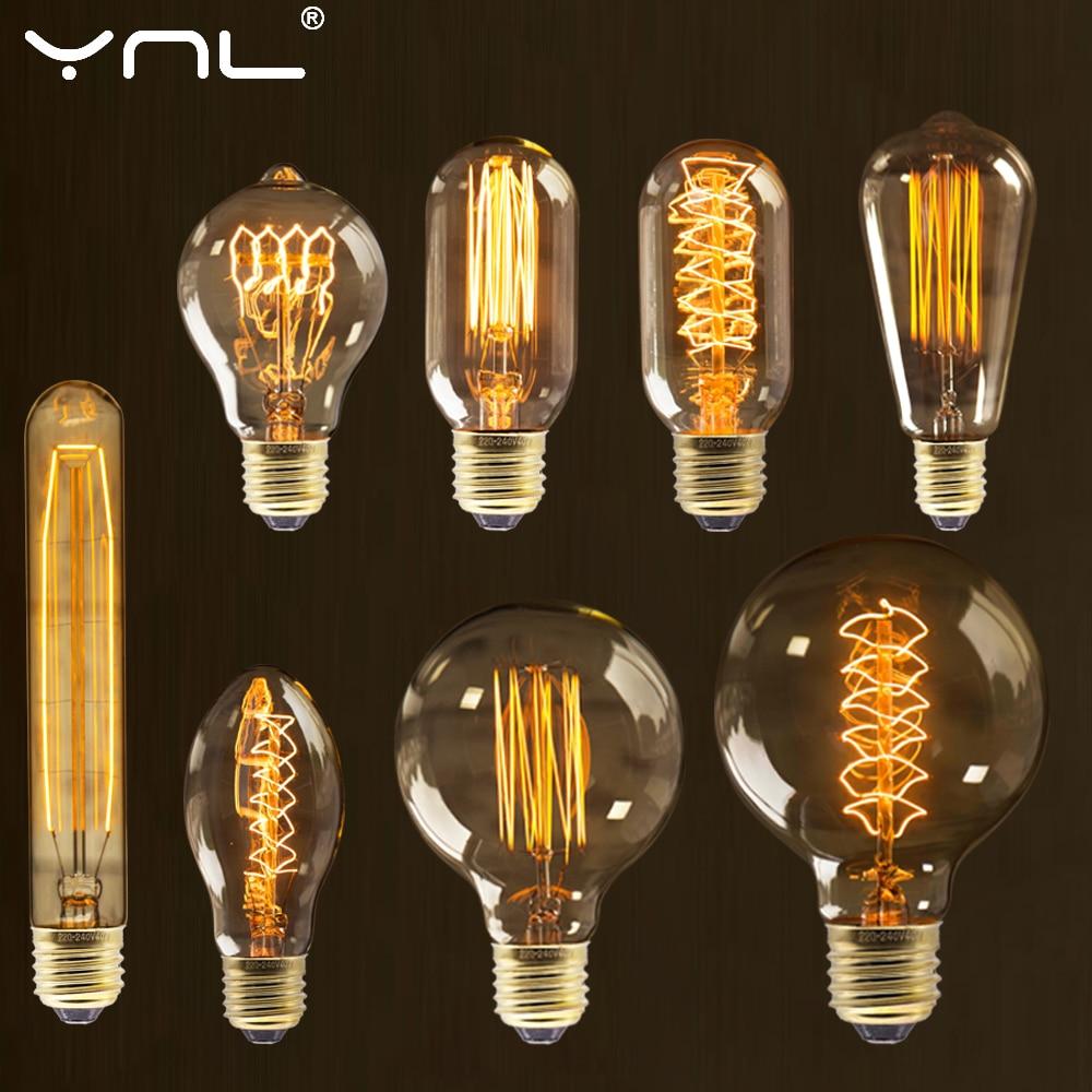 Retro Vintage Edison Bulb E27 40w 220v Ampoule Vintage Bulb Edison Lamp Filament Incandescent Light Bulb Retro Lamp Home Decor