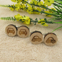 Wood Cufflinks Car Design