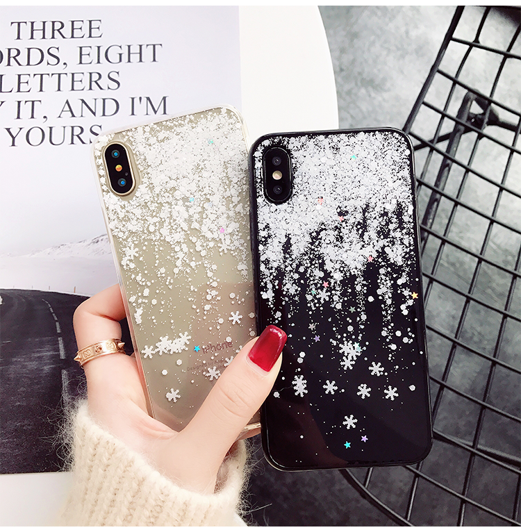 Phone - Snow Flower Soft Silicone Case For iPhone X XR Xs Max  7 8 6 6s Plus