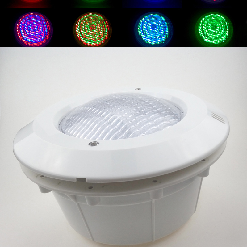 US $140.0 |LED Swimming Pool Lights 24W AC 12V RGB Par56 Underwater Pond  Lamp with Plastic Cover for Concrete Pools Modern Lighting CE ROSH-in LED  ...