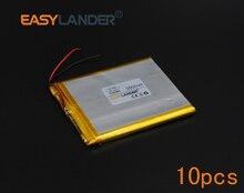10pcs/Lot 3.7V 3500mAh Rechargeable li Polymer Li-ion Battery For Power Bank Portable Consumer electronics safety lamp 556680