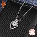 New Arrival Evil Eye Blue Austrian Rhinestones Pendant Necklace for Women 925 Sterling Silver Jewelry Bijoux Gift