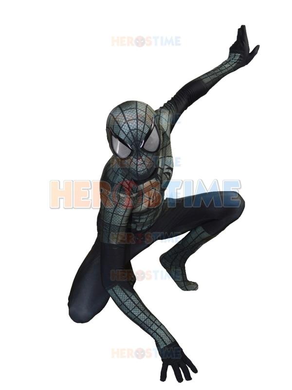New Black Spiderman Costume Lycra 3D Տպագրություն - Կարնավալային հագուստները - Լուսանկար 2