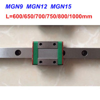 MGN9 MGN12 MGN15 linear rail guide 600mm 650mm 700mm 800mm 900 1000mm + MGN9H MGN12H MGN15C or MGN H carriage for 3d printer