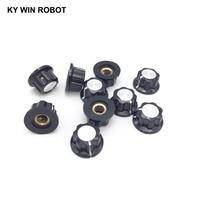 potentiometer knob 5pcs/lot MF-A01 A01 Potentiometer Knob Cap Inner 6mm 20x12mm Rotary Switch Bakelite Knob copper core inner for WHT118 WX050 (5)