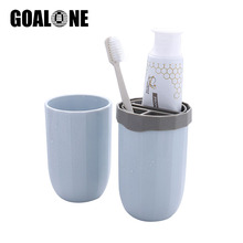 GOALONE Travel Toothbrush Cup Portable Nordic Toothpaste Holder Case Container Plastic Mugs Mate for Outdoor Trip
