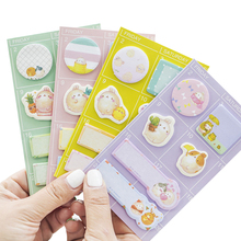 1pack/lot Cute Cartoon Rabbit Message Multi-purpose Schedule Memo Pad Sticky Notes Sticker School Office Supply Label