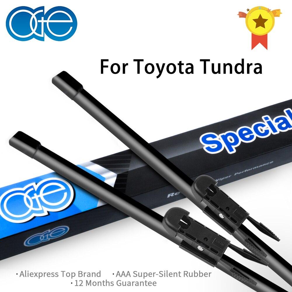Toyota Tundra 2001-2017 üçün Ön silecek bıçaqları, təbii şüşəli külək üçün təbii rezin avtomobil aksesuarları