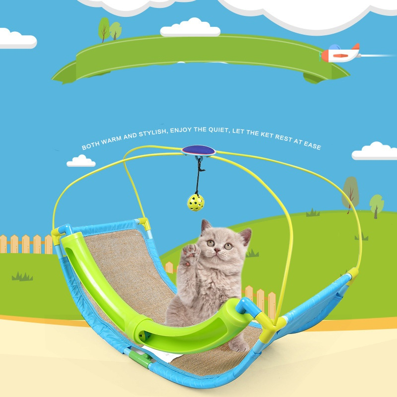Cat Toys Hanging Hammock Bed for Pet Sleeping Napping for Kitty Cats Toy 60 x 33 x 46cm