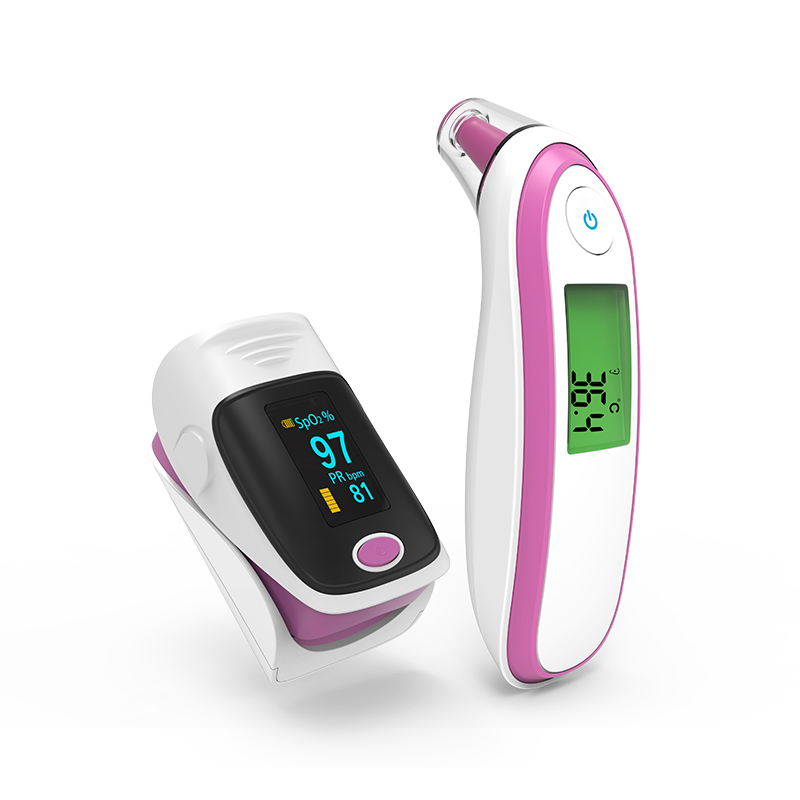 Dedo Oxímetro de pulso de Oxigênio No Sangue oxímetro saturometro de Cuidados domésticos termometr Termômetro Infravermelho Testa Orelha termômetro