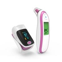 Household Care Finger Pulse Oximeter saturometro oximetro Blood Oxygen Infrared Ear Forehead Thermometer termometr thermometre