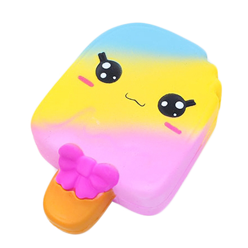 Jumbo Cute Colorful Ice Cream Squishy Slow Rising Soft Squeeze Toy Bread Cake Scented Novelty Stress Relief Funny For Kid Gift
