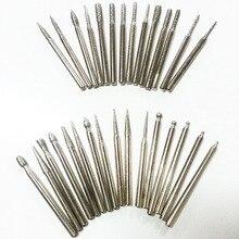 30 шт. 3 мм алмазные боры мини сверло указан dremel аксессуаров роторный инструмент алмазный шлифовальный абразивный полировка голову заусенцев