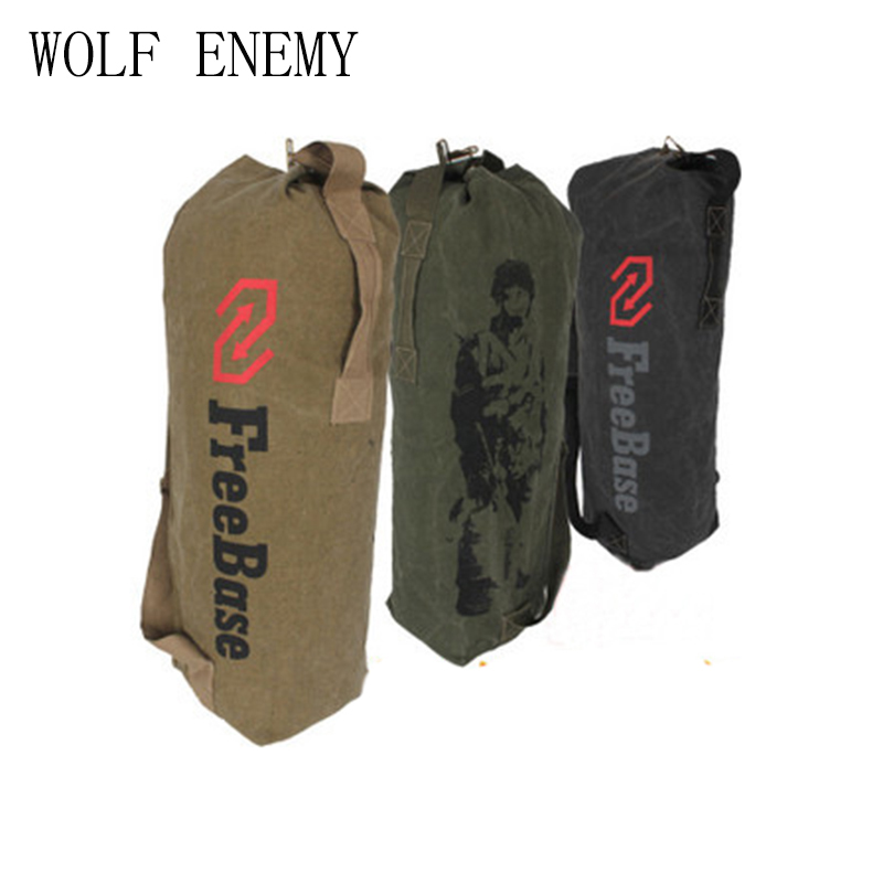 Canvas Large Shoulder Bags Freebase Army Soldier Tactical Canvas Backpack Outdoor Sport  ...