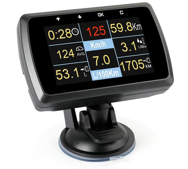 Image 2 - Car OBD2 Gauge With Holder Driving Speed Meter Water Temperature Digital Display-in Pressure & Vacuum Testers from Automobiles & Motorcycles