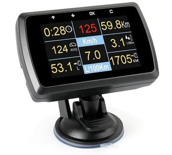 Car OBD2 Gauge With Holder Driving Speed Meter Water Temperature Digital Display