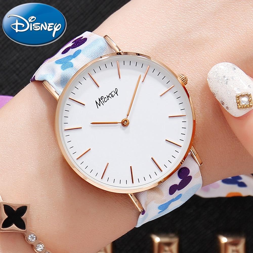 Été nouveau Mickey femmes Quartz montre étanche avec 2 ruban bande filles all-match frais Cool à la mode montres Disney LOGO