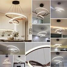 Moderne LED kronleuchter für esszimmer wohnzimmer Weiß/Schwarz/Kaffee Farbe lampadario moderno Lustre Kronleuchter AC85 265V