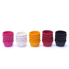 1000 шт 25x21 мм мини-вкладыш для кексов бумажные чашки для выпечки Формы для кексов маленькая коробка для пирожных лоток для декорирования чашки инструменты