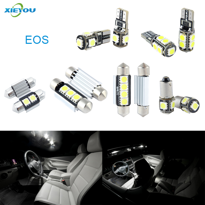 XIEYOU 10stk LED Canbus interiørlys pakke for EOS