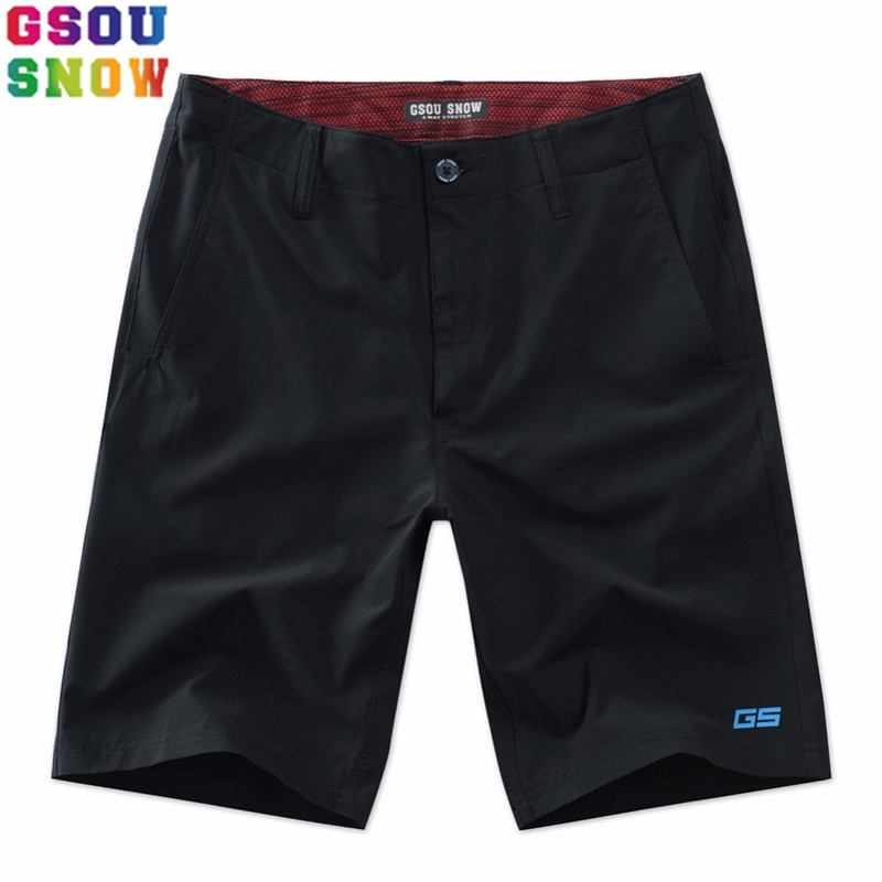 Gsou Snow Brand Men Beach   Shorts   Quick Dry   Board     Shorts   Summer Beach Holiday Swimwear   Shorts   Mens Fitness Jogger Sweatpants