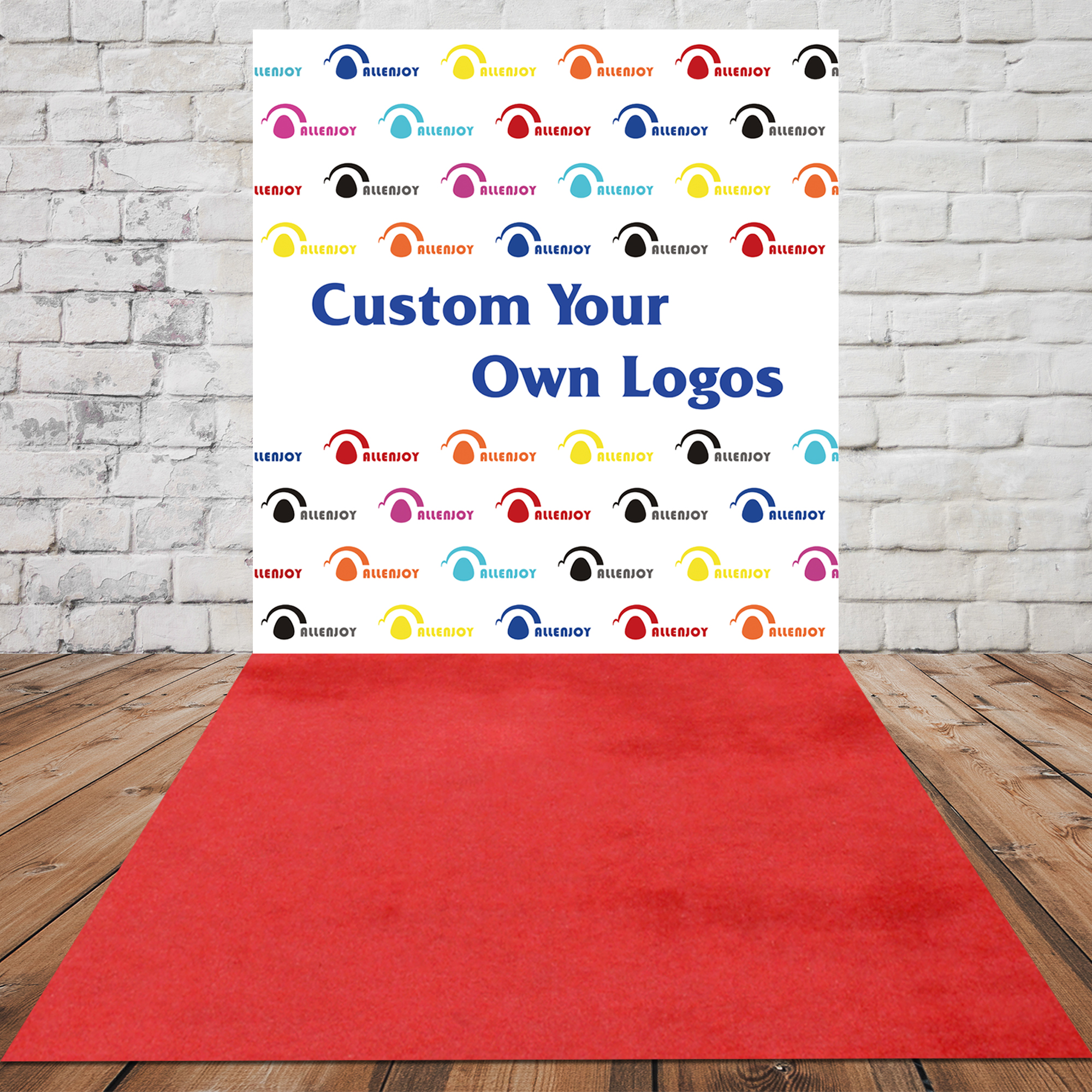 STEP AND REPEAT BACKDROP CUSTOM (YOUR CUSTOM LOGO)