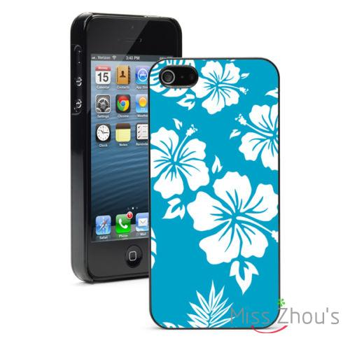 Blue Hawaiian Hibiscus Flower Protector Back Skins Mobile Phone
