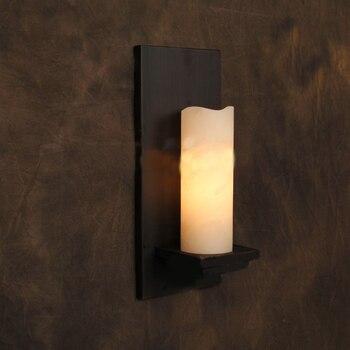 Винтажное бра Лодж Ретро железные Настенные светильники искусственный мрамор свеча настенный светильник с абажуром кафе бар промышленные ...