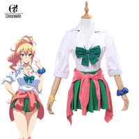 ROLECOS Yame Yukana Anime Cosplay Costume My First Girlfriend Is A Gal Costume School Uniform For