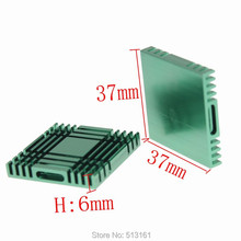 10 Pieces 37x37x6mm Cooling Cooler Heat Sink Radiator Aluminum Heatsinks 10 pieces aluminum 25x25x5mm cooling heatsinks heat sink cooler radiator