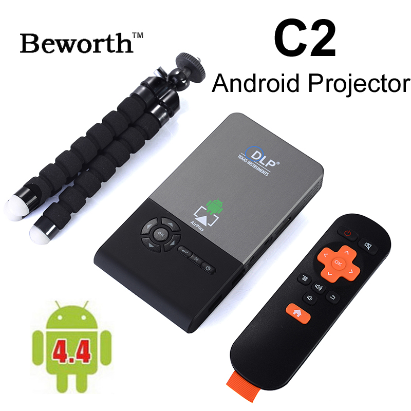 Android Mini Inteligente H.265 RK3128 Quad Core Full HD DLP LED Proyector proyec