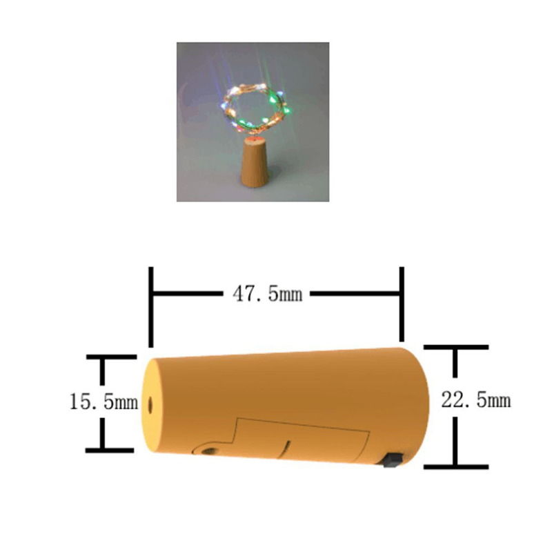 2m 20 LED Copper Wire Micro Starry Light with Bottle Stopper For ...