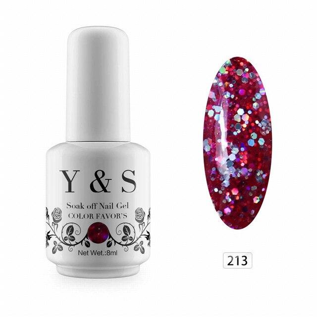 Y & S Soak Off Гели для ногтей Польский DIY Дизайн ногтей LED гель Лаки длительный гель для ногтей УФ