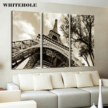 Wall Art Canvas Painting Posters and Prints,Paris Eiffel Tower Landscape Pictures For Living Room Home Decor