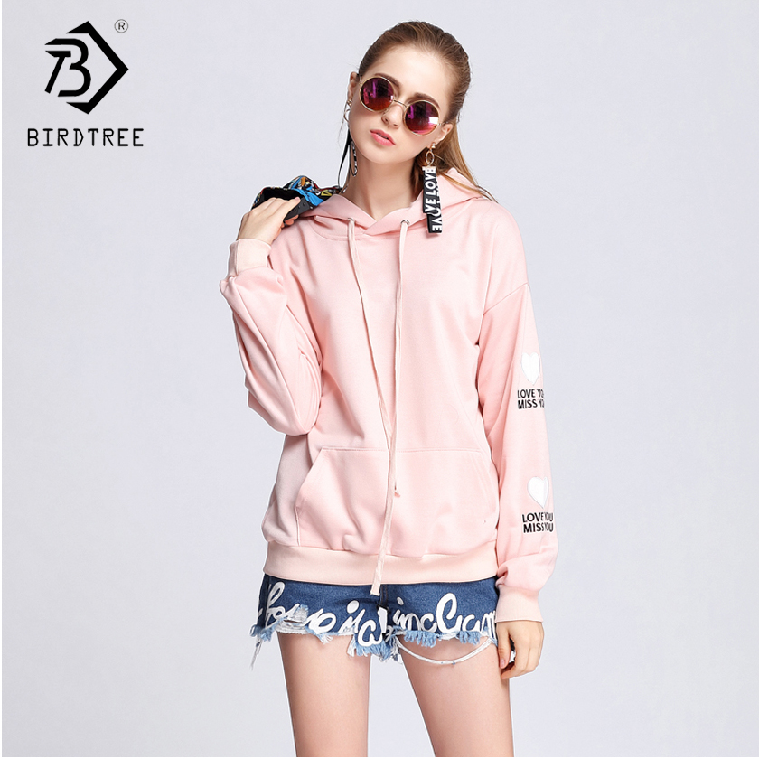 2018 Autumn New Arrival Woman Hoodies & Sweatshirts Korean Style Fashion Tie O-Collar Hooded Women Clothing Hots Sale C87131L