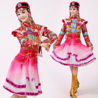 New fashion Mongolian traditional dance clothes classical stage performance clothing Chinese dance costumes for singers