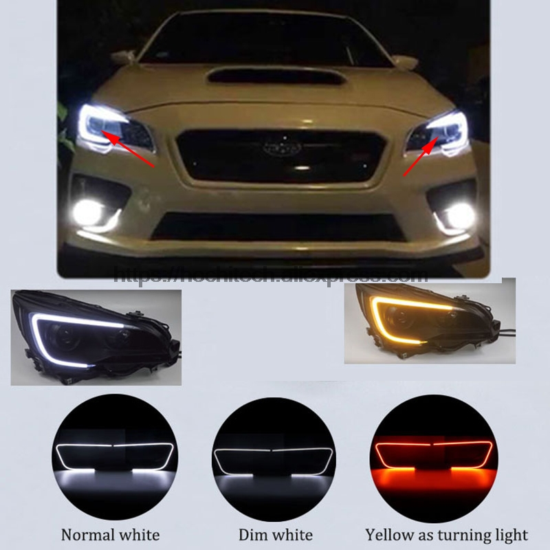 HochiTech For Subaru Legacy WRX STI 2015 2018 Car Styling LED Daytime Running Light With Dimmer
