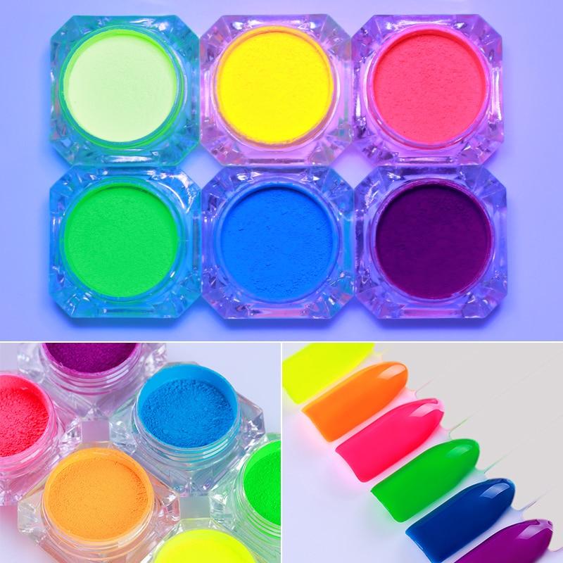Diszipliniert 1 Box 2g Neon Phosphor Pulver Nagel Glitter Pulver Staub Leucht Pigment Leuchtstoff Pulver Nagel Glitters Glow In Die Dark QualitäTswaren Schönheit & Gesundheit Nails Art & Werkzeuge