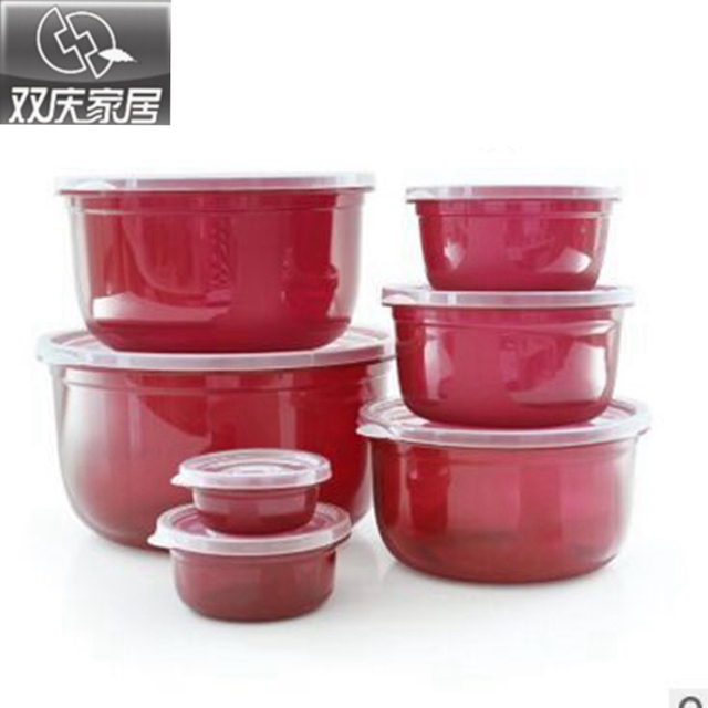 7ps5ps New Fashion Kitchen Transparent Preservation Plastic Boxes