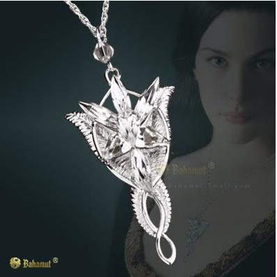 Bahamut 925 Sterling Silver The LOTR Silver Arwen Evenstar