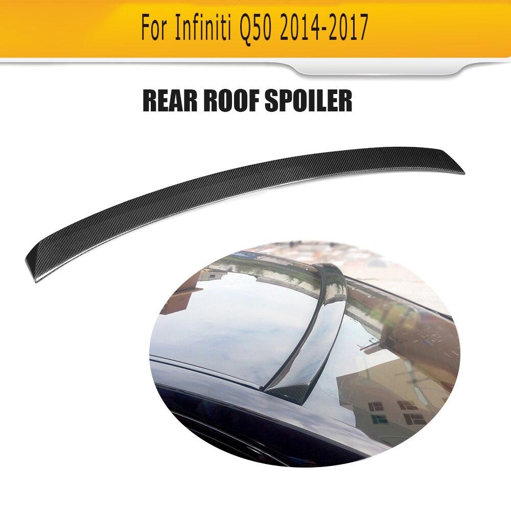 Auto Car Carbon Fiber Roof Wing Spoiler For Infiniti 2014 2015Auto Car Carbon Fiber Roof Wing Spoiler For Infiniti 2014 2015