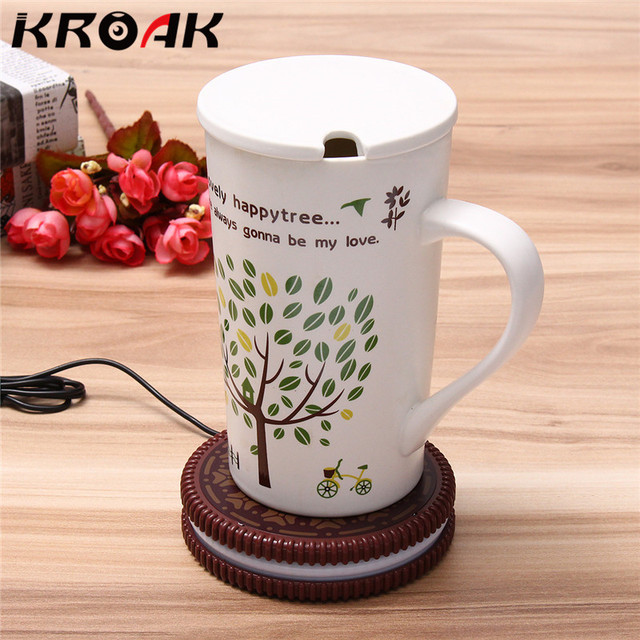 Usb Ed Uk Mat Cup Warmer Milk Heater Coffee Mug Drink Coaster Tea Insulation