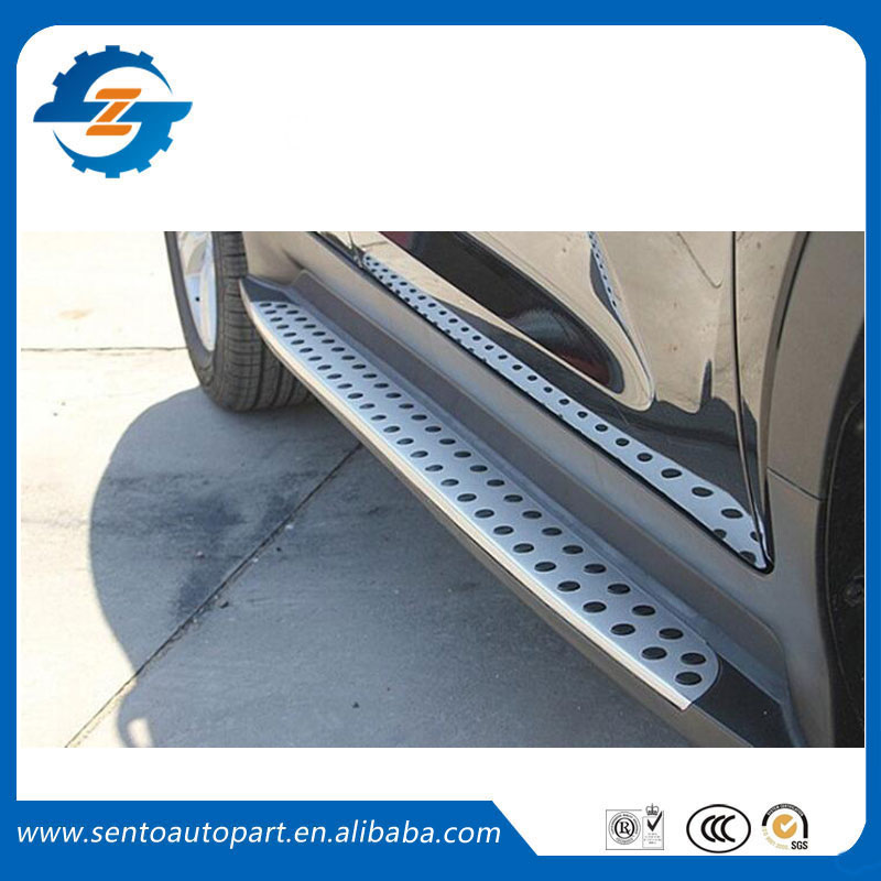High quality aluminium alloy or plastic thresholds side step running board for Sportage R 2010 - 2017